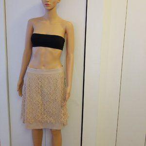 DKNY 8 blush overlay skirt